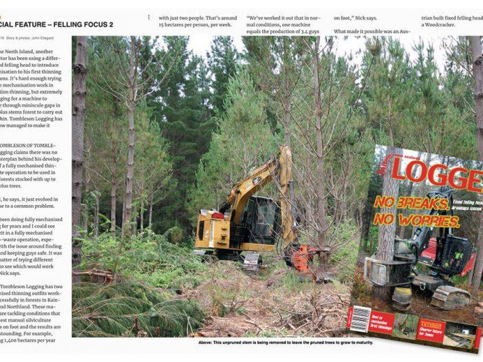Tombleson Logging in logger magazine